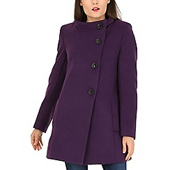 David Barry - Purple high neck jacket