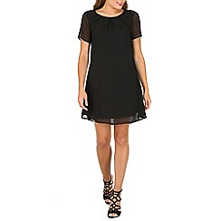 Cutie - Black pleated shift dress