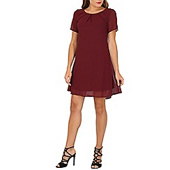 Cutie - Maroon pleated shift dress