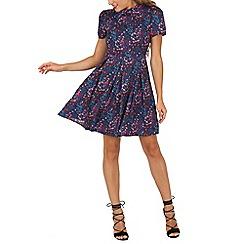 Cutie - Blue bird print dress