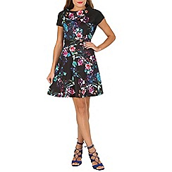 Cutie - Black floral raglan dress
