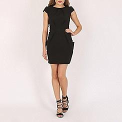 Voulez Vous - Black tie back pleat dress