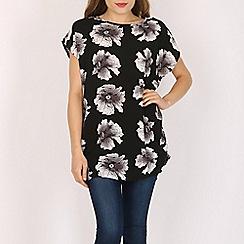 Voulez Vous - Black large floral print top