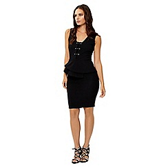 Jane Norman - Black peplum metal bar dress