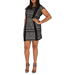 Samya - Black tribal print bodycon dress