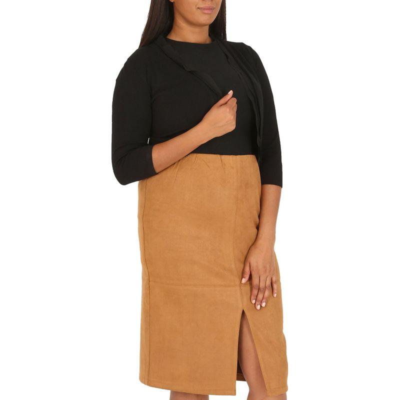 Plus Size Samya Black Cropped Bolero Jacket, Womens, Size: