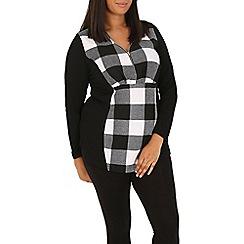 Samya - Black checked zip fron top