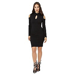 Jane Norman - Black cold sholuder knit dress