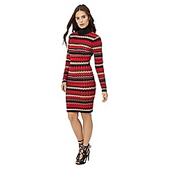 Jane Norman - Multicoloured striped knit dress