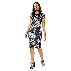Jane Norman - Navy floral crepe bodycon dress