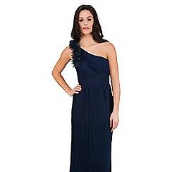 Jane Norman - Navy one shoulder maxi dress