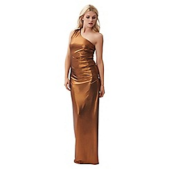 Jane Norman - Gold foil one shoulder dress
