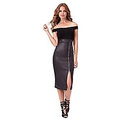 Jane Norman - Black 2 in 1 bardot dress