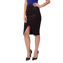 Jane Norman - Black scuba pencil skirt