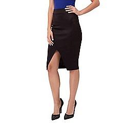 Jane Norman - Black scuba pencil skirt