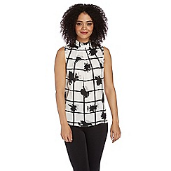 Roman Originals - Ivory monochrome print top