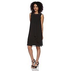 Roman Originals - Black jewelled neck dress