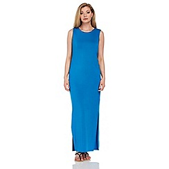 Roman Originals - Blue plain maxi dress