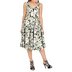 Jolie Moi - Green sweetheart neckline printed dress