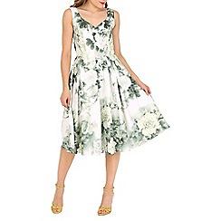 Jolie Moi - Light green sweetheart neckline printed dress