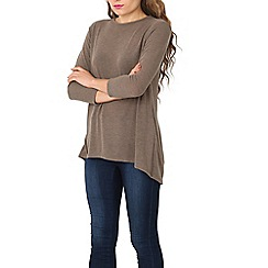 Stella Morgan - Fawn 3/4 length sleeve round neck top