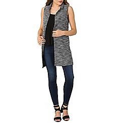 Izabel London - Black sleeveless knit jacket