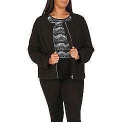 Samya - Black textured zip jacket