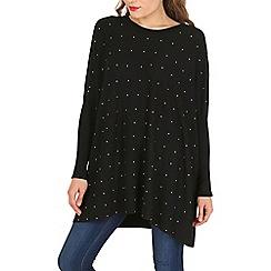 Voulez Vous - Black studded front jumper