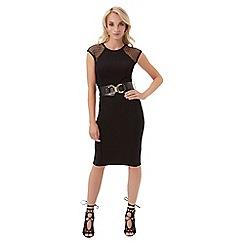 Jane Norman - Black lace panel dress