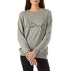 Sugarhill Boutique - Grey love sweater