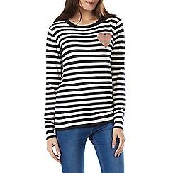 Sugarhill Boutique - Navy lena stripe love jumper