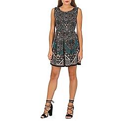 Tenki - Green paisley print pleated dress