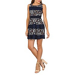 Tenki - Blue block pattern dress