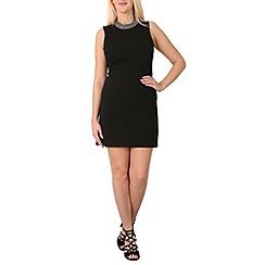 Izabel London - Black gem neckline dress