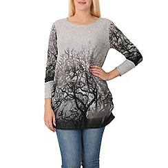 Izabel London - Grey forest print top