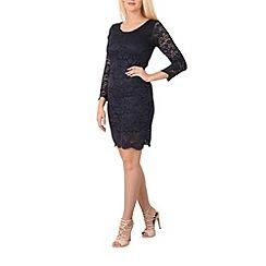 Izabel London - Navy lace bodycon dress