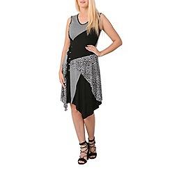 Izabel London - Black lace up detail dress