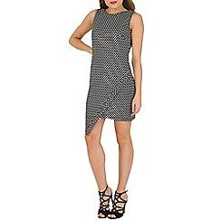 Izabel London - Black geometric asymmetric dress