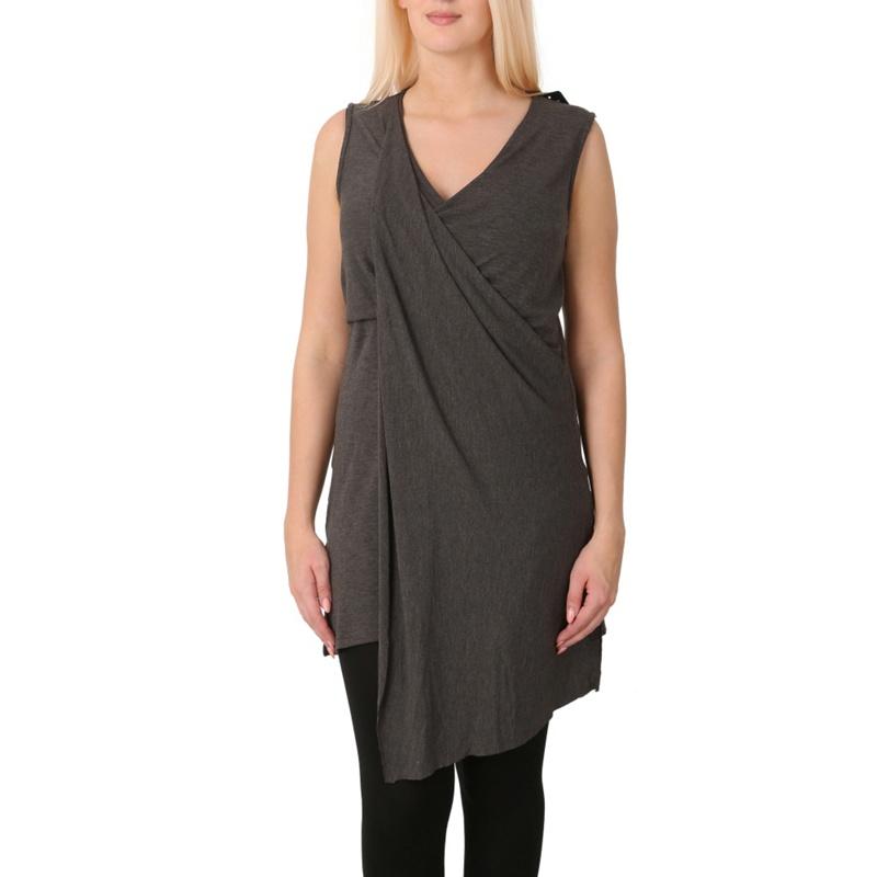 Izabel London Grey Wrap Detail Top, Womens, Size: 12