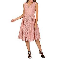 Jolie Moi - Lilac scalloped v neckline prom dress