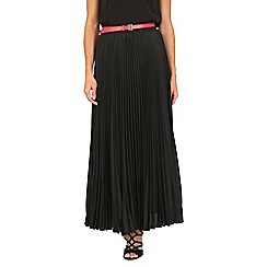 Jolie Moi - Black crepe pleated maxi skirt