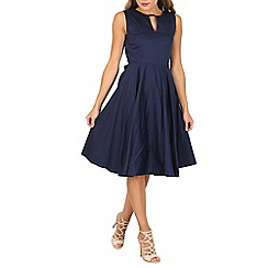 Jolie Moi - Navy keyhole neckline full circle dress