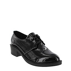 Marta Jonsson - Black lace up patent shoes