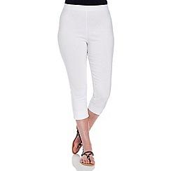 Roman Originals - White crop  trousers