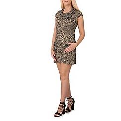 Izabel London - Beige paisley print tunic dress