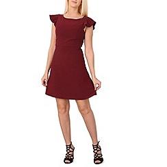 Izabel London - Dark red round neck  dress