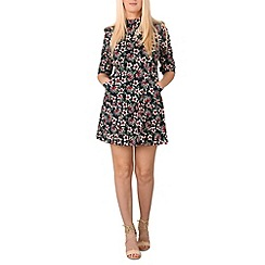 Izabel London - Navy paisley print dress