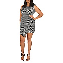 Samya - Black geometric pattern bodycon dress