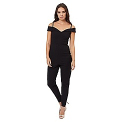 Jane Norman - Black black bardot jumpsuit