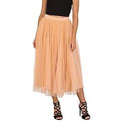 Jolie Moi - Cream tulle midi prom skirt